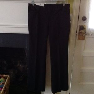 NWT Gap Stretch Modern Fit Flare Pants Black Sz 6R
